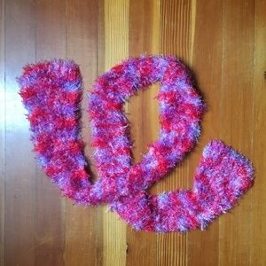 Accessories - Pink, Purple, and Lavender Knit Scarf